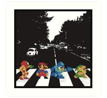 Nintendo Sprites on Abbey Road Art Print