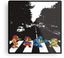 Nintendo Sprites on Abbey Road Metal Print
