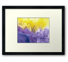 Abstract watercolor - yellow and purple Framed Print
