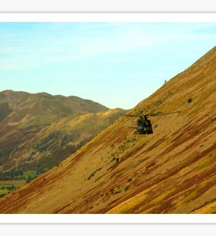 Helicopter in Kirkstone Pass. Sticker