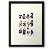 The 12 Doctors Framed Print