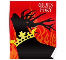 Game of Thrones Baratheon Ours is the Fury Crowned Stag Poster