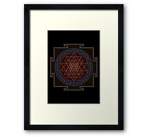 Huge Sri Chakra Poster - Monochrome Framed Print
