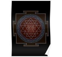 Huge Sri Chakra Poster - Monochrome Poster