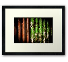 Rusty Fence Framed Print
