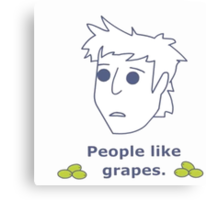 Gavin Free - People Like Grapes Canvas Print