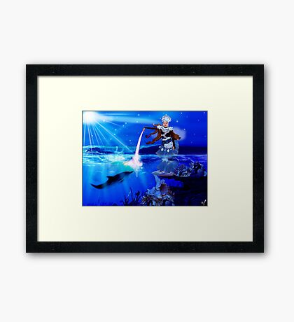 Beautiful sea princess Framed Print