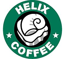Helix Coffee ~ Black and White Photographic Print