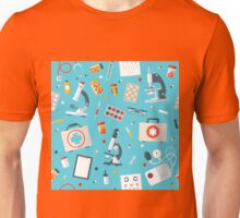 Medical Tools Seamless Pattern. Health Care Stuff  Unisex T-Shirt