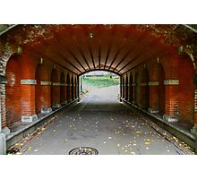 Red Tunnel Photographic Print