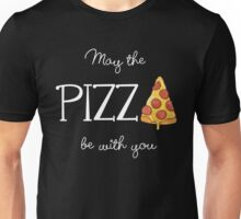 May The Pizza Be With You White Unisex T-Shirt