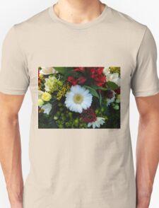 Beautiful White Gerbera Daisy Unisex T-Shirt