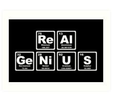 Real Genius - Periodic Table Art Print