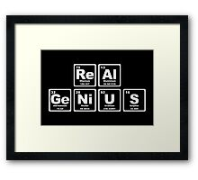 Real Genius - Periodic Table Framed Print