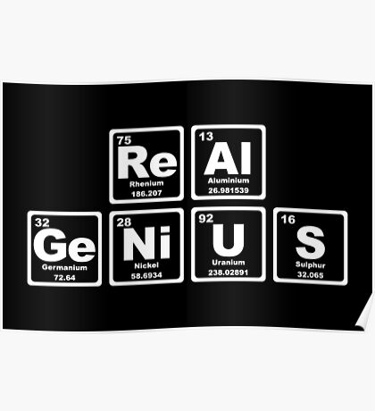 Real Genius - Periodic Table Poster