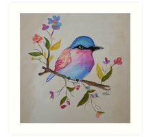 Multicolored Bird on Canvas Print Art Print