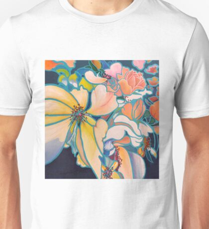 Kinetic Blossoms Unisex T-Shirt
