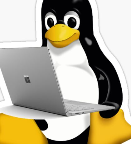 penguin surface book  Sticker