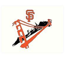 San Francisco Giants Stencil Art Print