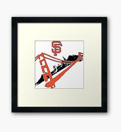 San Francisco Giants Stencil Framed Print