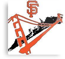 San Francisco Giants Stencil Metal Print