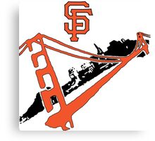 San Francisco Giants Stencil Canvas Print