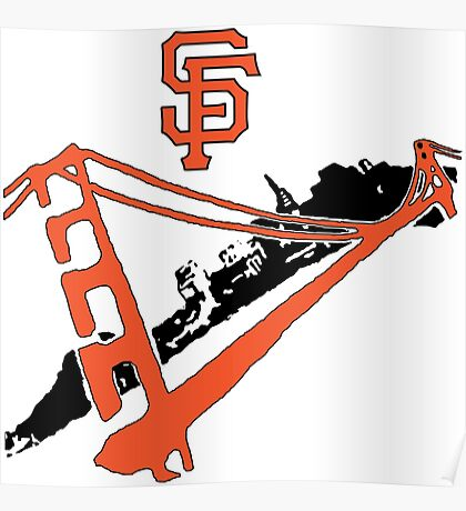 San Francisco Giants Stencil Poster