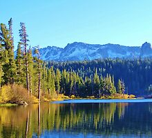 FALL REFLECTIONS ON LOVELY MAMMOTH LAKE by CHERIE COKELEY