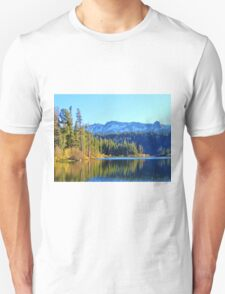 FALL REFLECTIONS ON LOVELY MAMMOTH LAKE Unisex T-Shirt