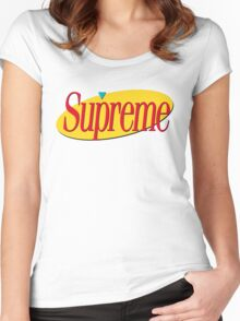 Supreme Seinfeld Collab Women's Fitted Scoop T-Shirt