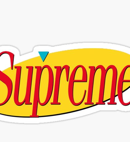 Supreme Seinfeld Collab Sticker