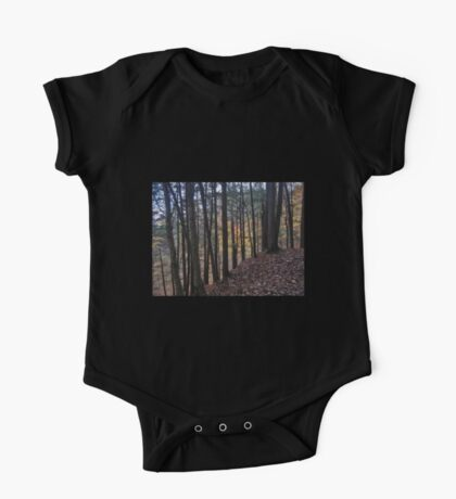 Stained Glass Autumn Woods One Piece - Short Sleeve