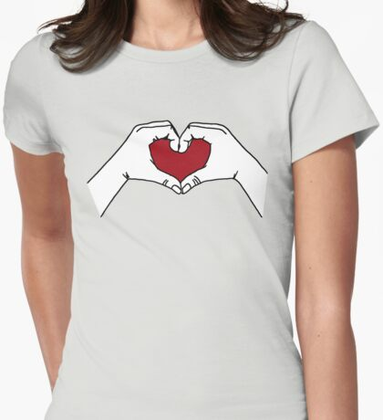 I Heart U Womens Fitted T-Shirt