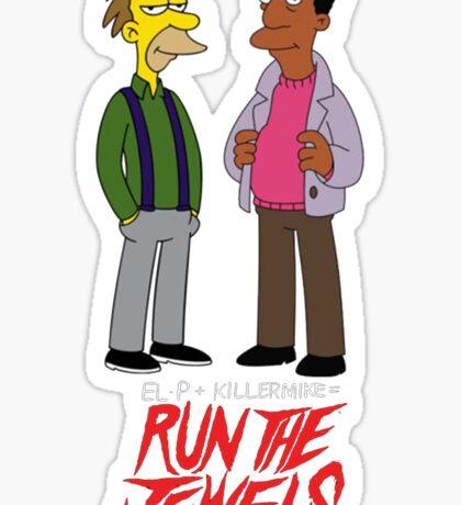 Run The Jewels Lenny and Carl Parody Sticker