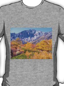 COLORFUL AUTUMN MOUNTAIN RANGE IN MAMMOTH MOUNTAIN T-Shirt