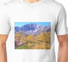 COLORFUL AUTUMN MOUNTAIN RANGE IN MAMMOTH MOUNTAIN Unisex T-Shirt