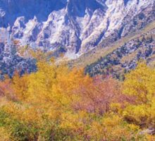 COLORFUL AUTUMN MOUNTAIN RANGE IN MAMMOTH MOUNTAIN Sticker