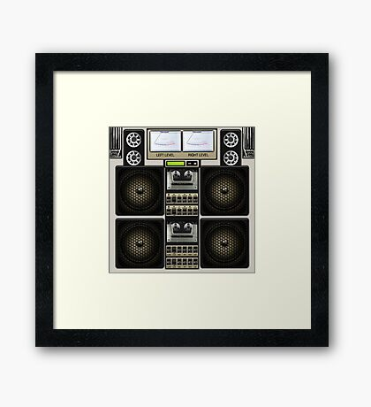 Retro Music Boombox Framed Print