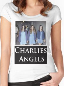 Charlies Angles Parody- Charles Manson Women's Fitted Scoop T-Shirt