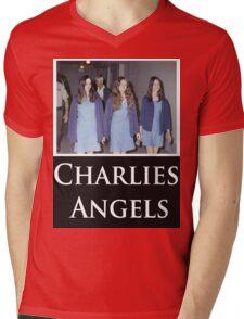 Charlies Angles Parody- Charles Manson Mens V-Neck T-Shirt