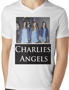 Charlies Angles Parody- Charles Manson Mens V-Neck T-Shirt