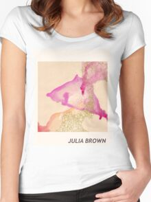 Julia Brown Watercolor  Women's Fitted Scoop T-Shirt