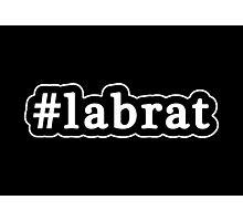 Lab Rat - Hashtag - Black & White Photographic Print