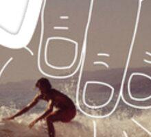 Hang Loose Surfer Sticker