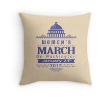 Million Women's March on Washington 2017 Throw Pillow