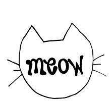 "Simple ""Meow"" Cat Outline by alexavec"