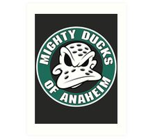 Mighty Ducks Anaheim Art Print