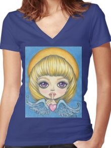 Angelica Women's Fitted V-Neck T-Shirt