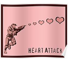 Master Chief Heart Attack - Halo Poster
