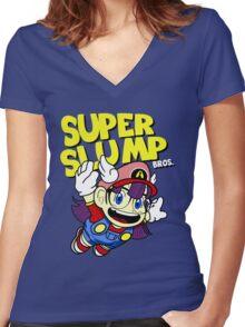 Super Slump Bros Women's Fitted V-Neck T-Shirt